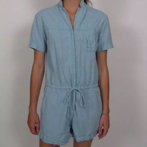 WILFRED FREE Blue Chambray Romper